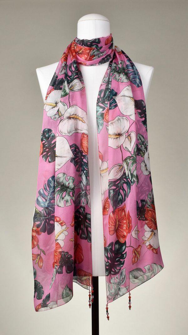 """""""Anthury"""" Seiden-Schal, floral"""