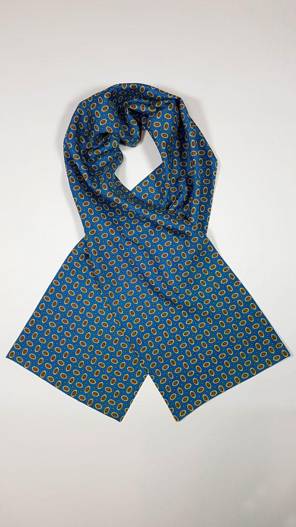 """Herren-Seidenschal """"Classic Pattern Blue"""" von TücherLuxus"""