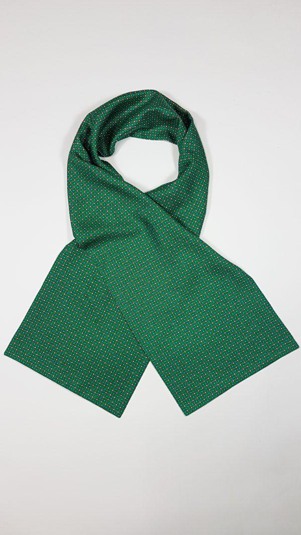 """Herren-Seidenschal """"Classic Pattern Green"""" von TücherLuxus"""