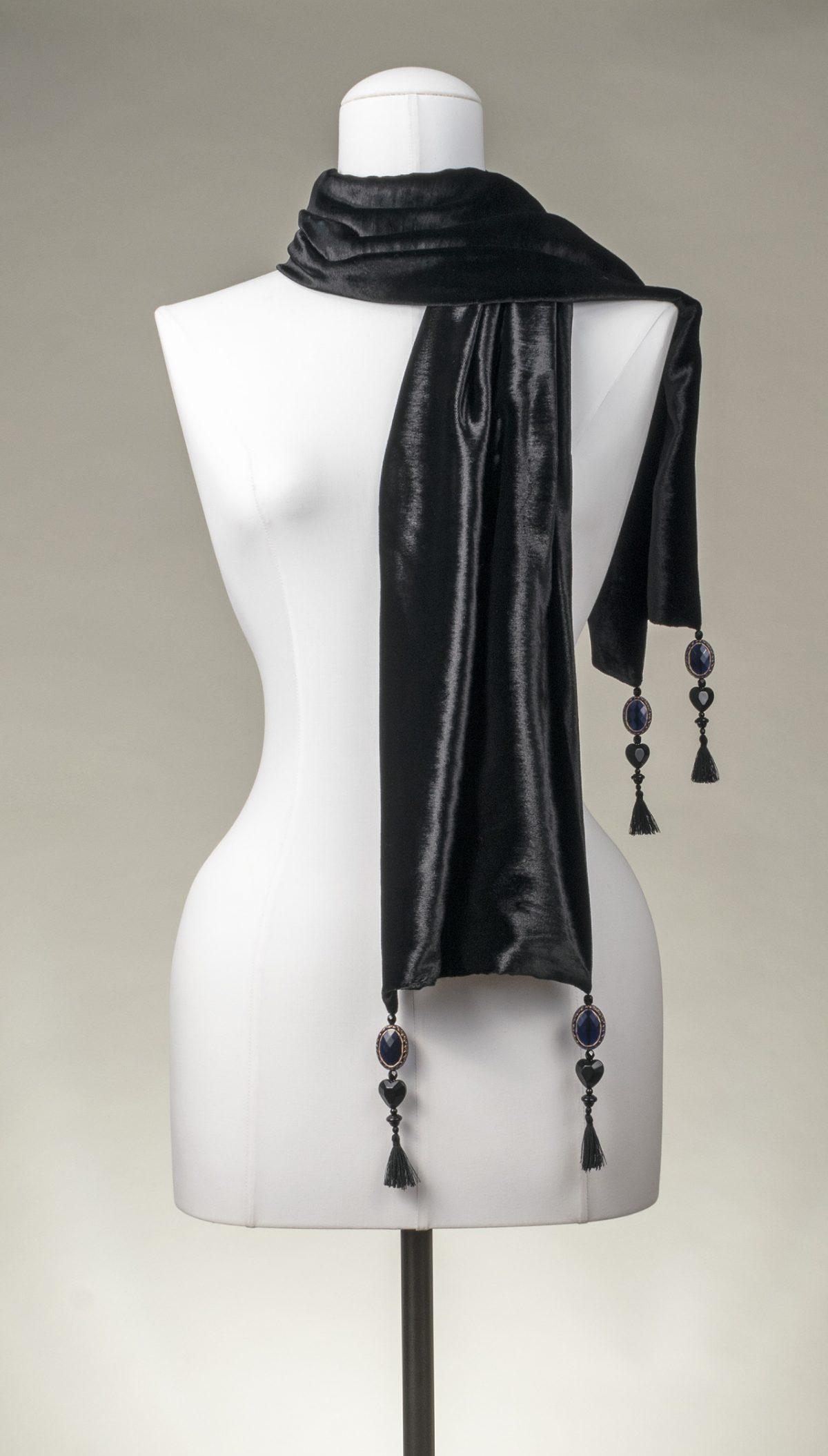 """""""Black Velvet Pure-Silk"""" Seiden-Samt-Schal, schwarz"""
